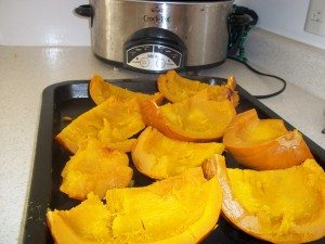 how to cook whole pumpkin in microwave