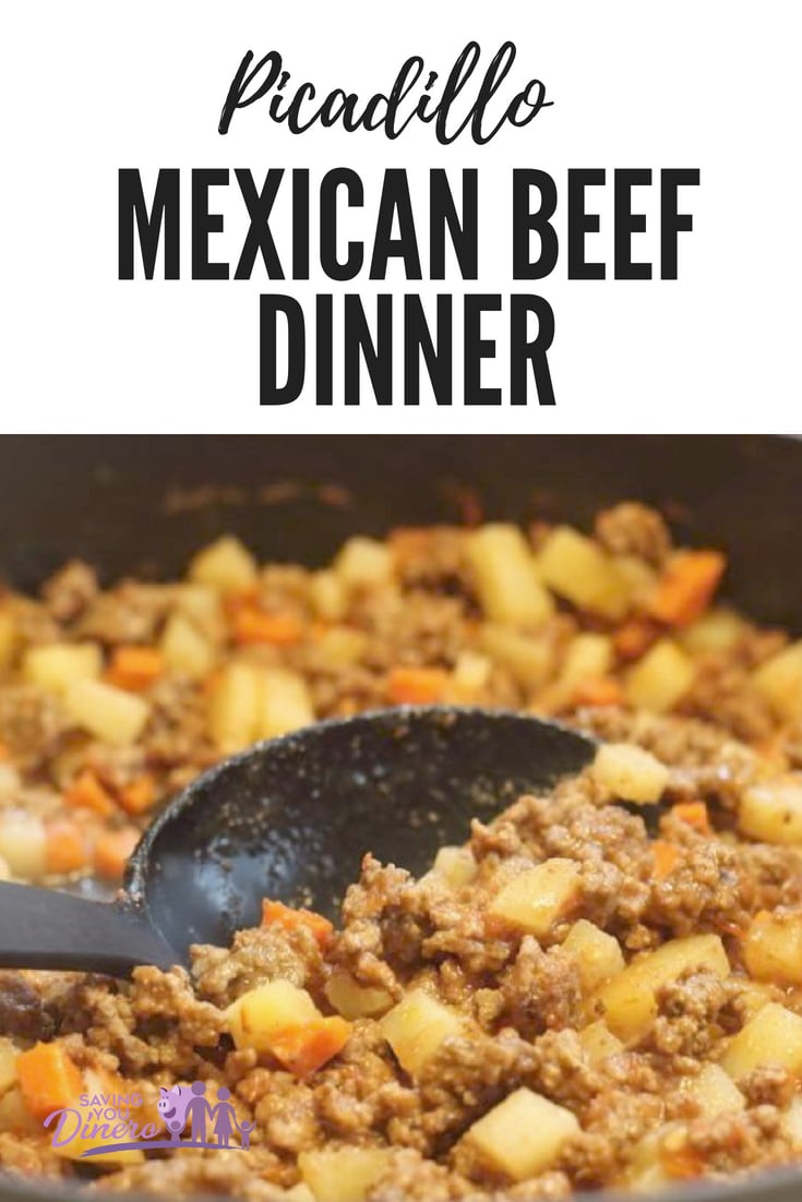 Are you looking for an easy ground beef dinner recipe? This recipe for Picadillo has a lot of flavor and it's really easy to make. Our whole family loves it and It's a quick Mexican dinner.