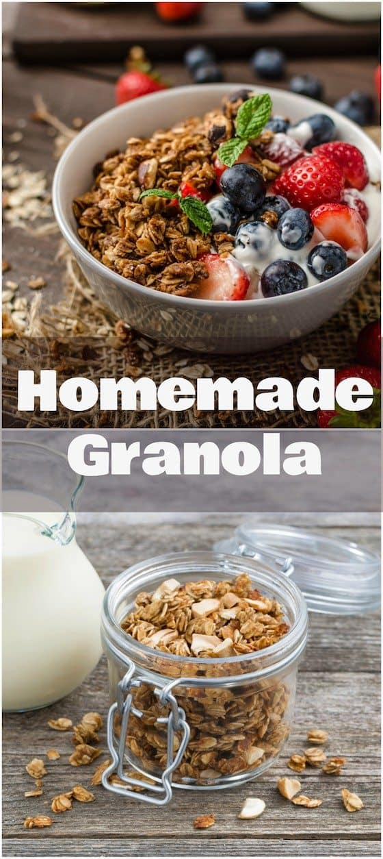 Easy Homemade Granola - Just 5 Ingredients