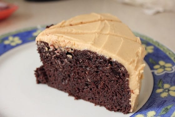 Homemade Chocolate Cake Peanut Butter Frosting: Chocolate Cake With Peanut Butter Icing