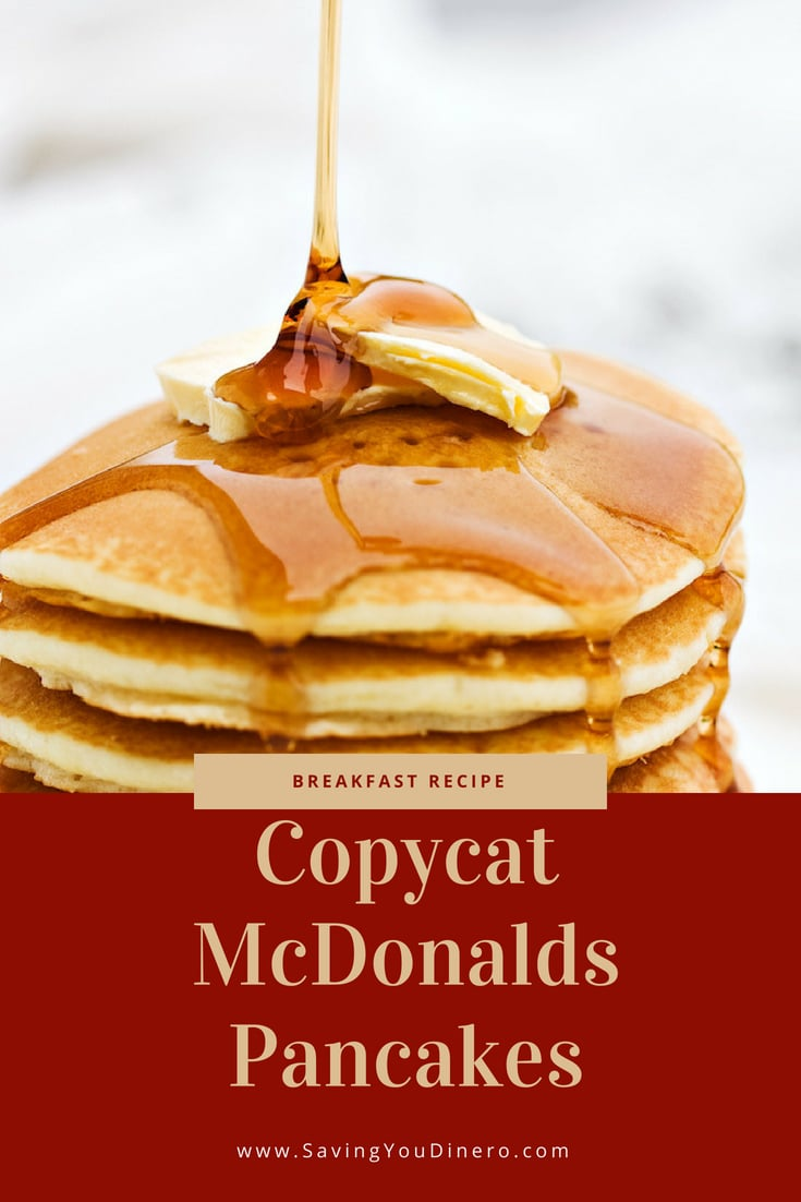 The best pancake recipe. It's an easy pancake recipe that tastes just like McDonalds. They are fluffy and from scratch. You can even add chocolate chips to them or spread Nutella on them. It's a great recipe for kids. #pancakes #recipe #copycat #breakfast #kidfriendly This McDonalds Pancake Recipe is the perfect pancake recipe. My family thinks they are a copycat McDonalds Pancakes recipe.