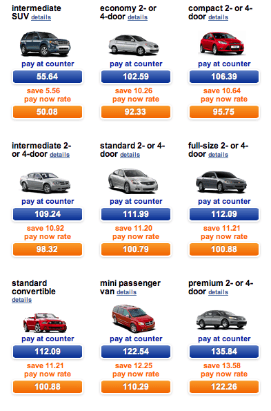 How Much To Drop Rental Car At Different Location