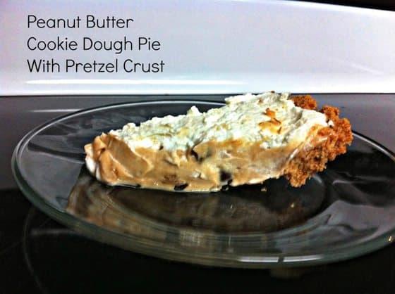 Peanut Butter Cookie Dough Pie With Pretzel Crust + Giveaway - Saving ...