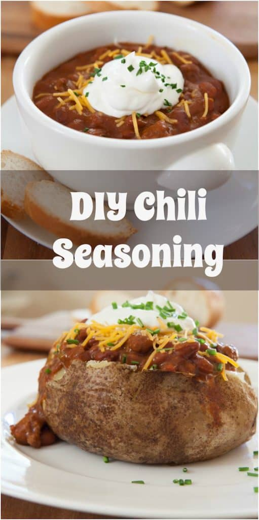 It's so easy to make your own DIY Chili Seasoning. Try this easy homemade chili seasoning. It tastes better than store bought and costs a lot less. Make this homemade chili seasoning and keep it in your pantry. Even my kids like it! #SYD