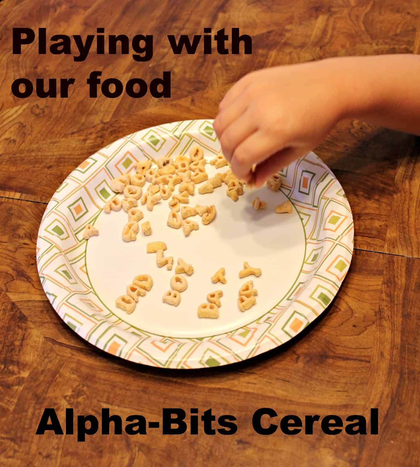 Alpha-Bits Having Fun With Food