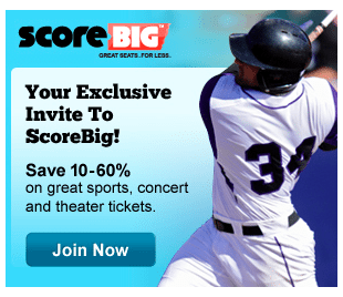 For example, ScoreBig promo code will enable you to get, for example, up to 60% off baseball tickets. Another ScoreBig coupon also will save you a up to 60% off concert tickets initial price. So, just choose the best ones, and get ready to have fun!