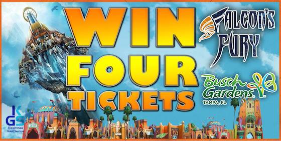 Win 4 Free Tickets to Busch Gardens Tampa Saving You Dinero