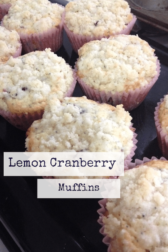 Lemon Cranberry Muffins With Streusel Topping - Saving You Dinero