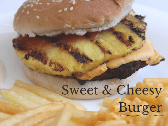 Sweet and Cheesy Burger