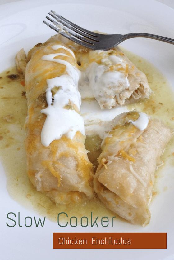 Slow Cooker Chicken Enchiladas - Saving You Dinero