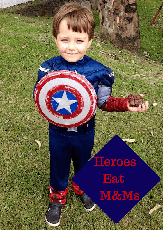 Captain America Brownies