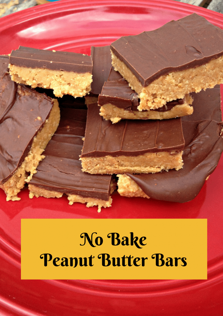Easy Baking Ideas No Bake Peanut Butter Bars Saving