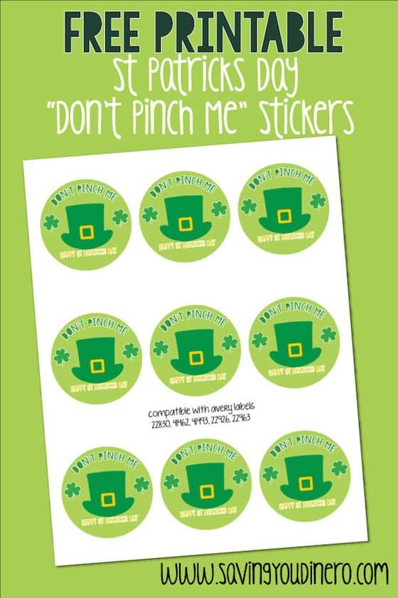 St Patricks Day Crafts for kids. You can print out these Free Printable St Patricks Day Stickers to enjoy with your family as decoration or craft!