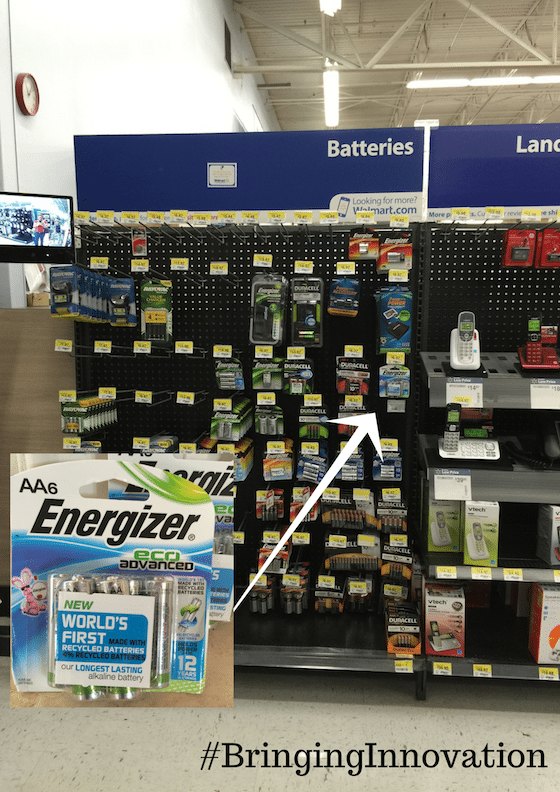 #BringingInnovation @Walmart #CBias Energizer EcoAdvanced Recycled Batteries