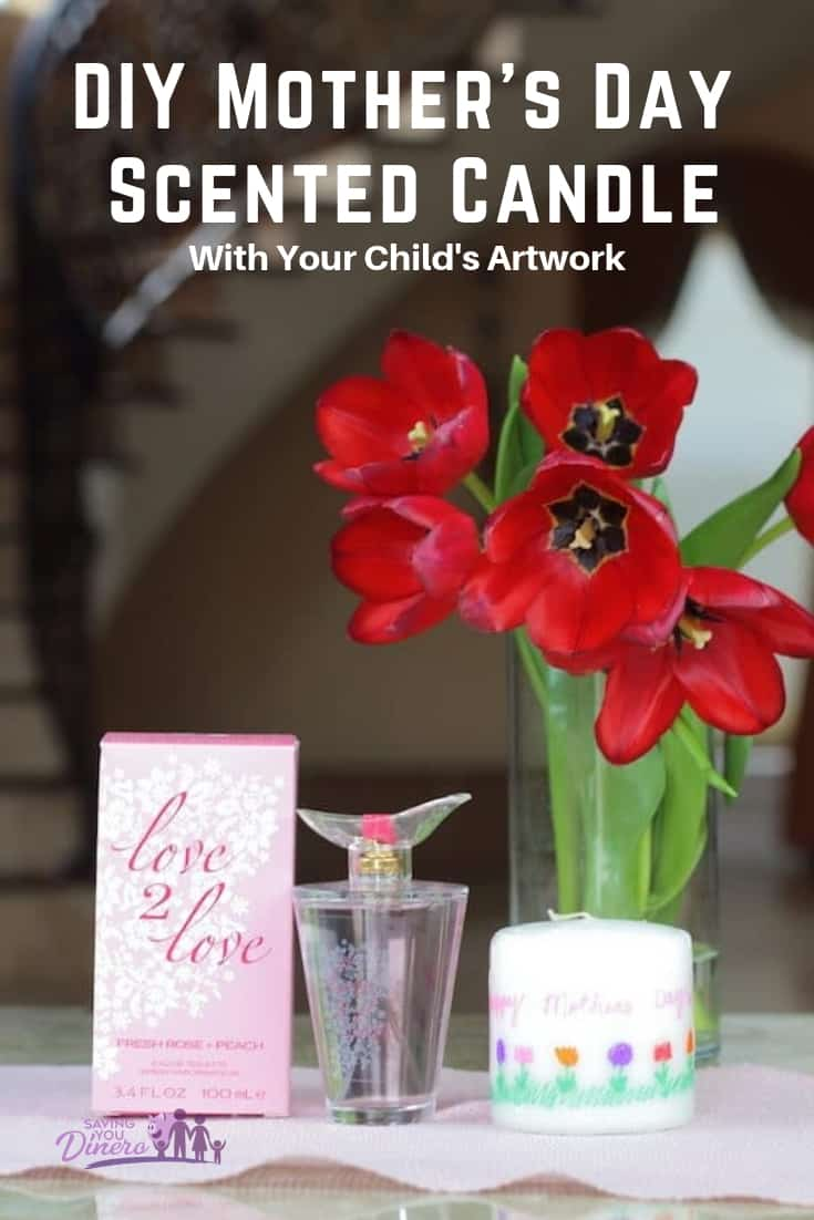 Are you looking for a DIY Mother's Day gift from kids? This is a great gift for Grandmas or moms. It's a cheap and unique homemade gift. I love that you can add your child's artwork and your favorite perfume to make it scented.
