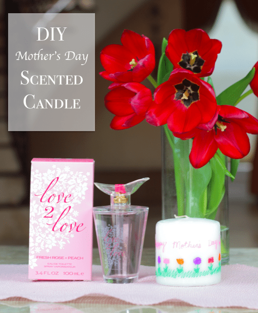 DIY Mother's Day Scented Candle With Your Childs Artwork #12DayOf