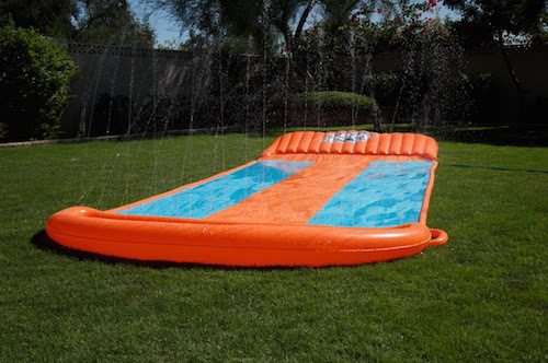 ... to get your kids to play outside and stay cool! It is easy to set up
