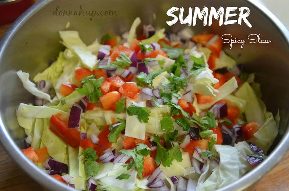 Spicy Summer Slaw Recipe {12 Days Of BBQ and Picnic Ideas}