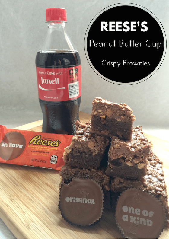 How will you #ShareYourSummer - Try these REESE'S Peanut Butter Cup Crispy Brownies #Ad #CBias