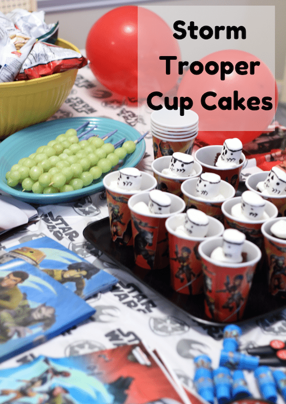 Storm Trooper Cup Cakes {Star Wars Rebel Party} #BDayOnBudget #Ad #CBias