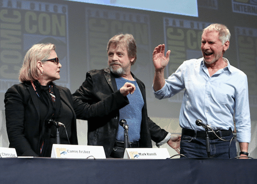 You can watch the #StarWars : THE FORCE AWAKENS Comic-Con Reel! #TheForceAwakens