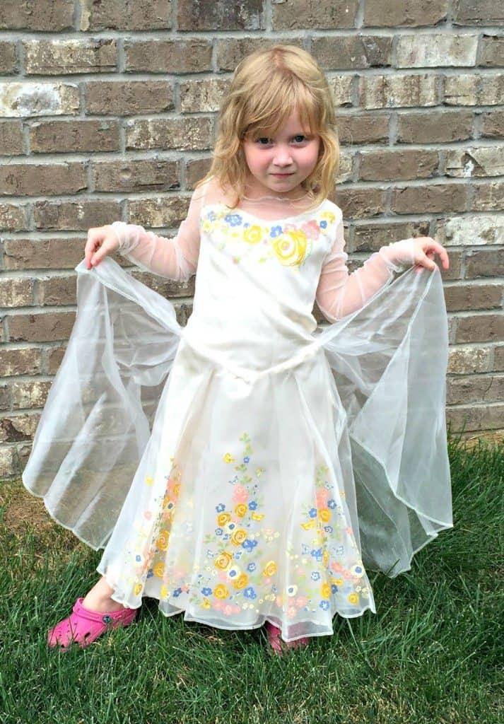 Cinderella Wedding Dress Child : Cinderella halloween costume saving you dinero
