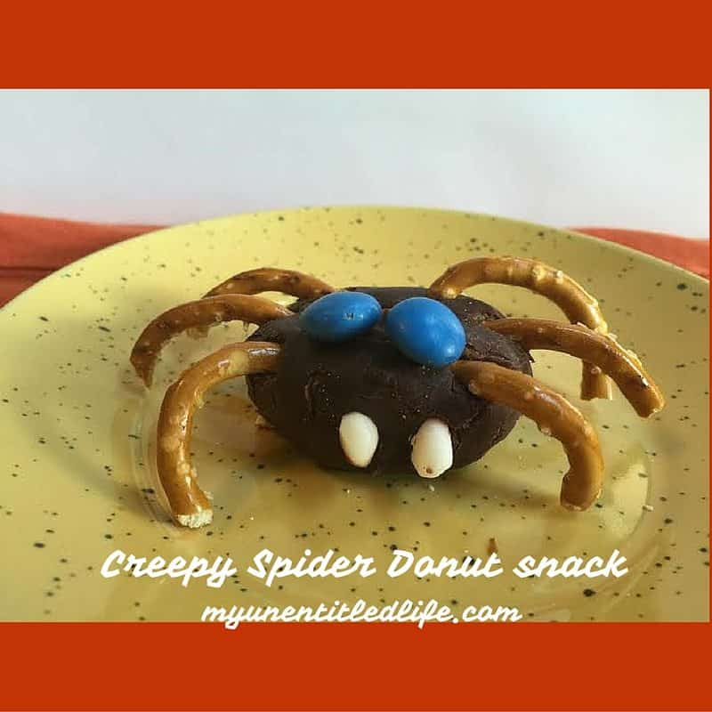 Creepy Spider Donut Craft {#12Days Of Halloween}