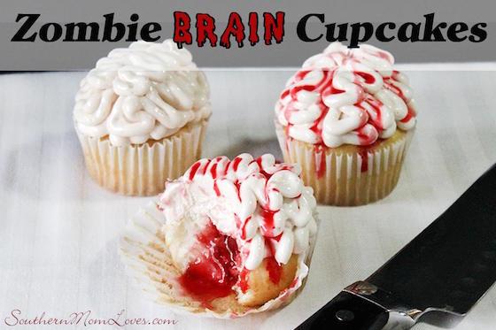 Zombie Brain Cupcakes {#12DaysOf Halloween}