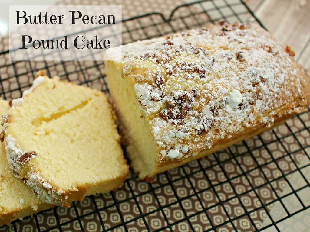 Butter Pecan Sour Cream Pound Cake