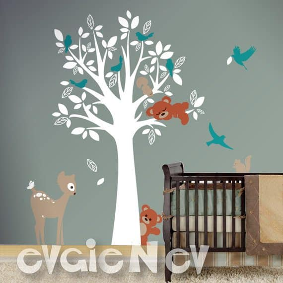 Popular Forest Animal Friends Wall Decals