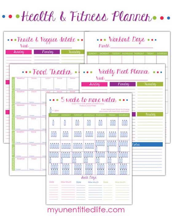 Weight Loss Trackers & Fitness Printables {#12DaysOf ...