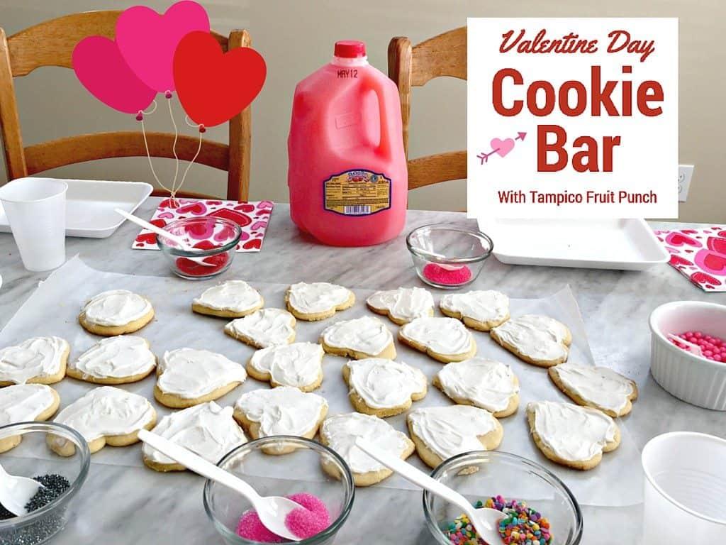 Valentine Day Cookie Bar Tampico Fruit Punch #LOVETAMPICO