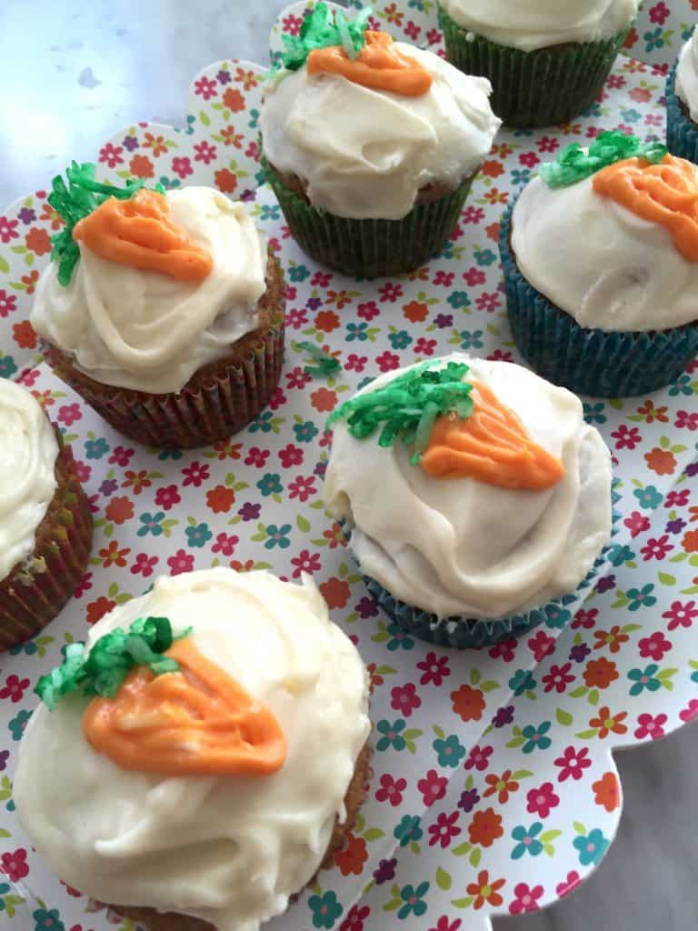 Carrot Cupcakes With Cream Cheese Icing For Easter #12DaysOf
