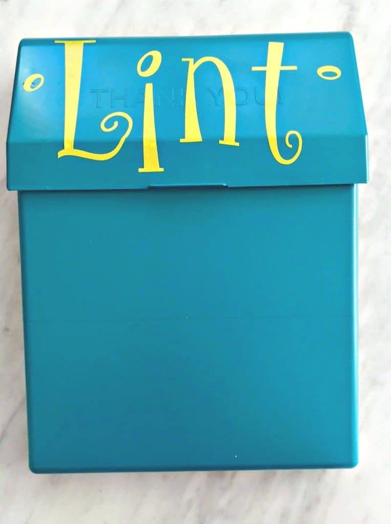 Diy Lint Trash Can Saving You Dinero