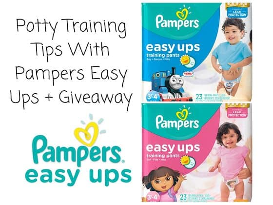 Potty Training Tips With Pampers Easy Ups + Giveaway ‪#‎PampersEasyUps‬ Pampers ‪#‎ad‬