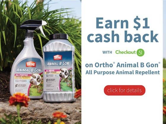 Get $1 Cash Back On Ortho Animal B Gone From Checkout 51 #OrthoProtects