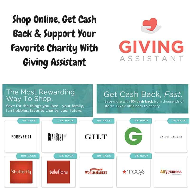 Shop Online, Get Cash Back & Support Your Favorite Charity With Giving Assistant