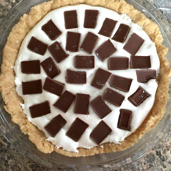 pie with choc