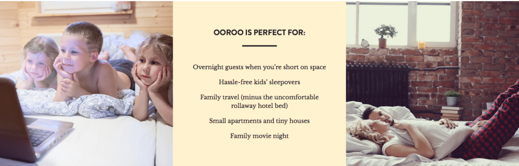 The OoRoo Bed - My Ottoman By Day & A Guest Bed At Night