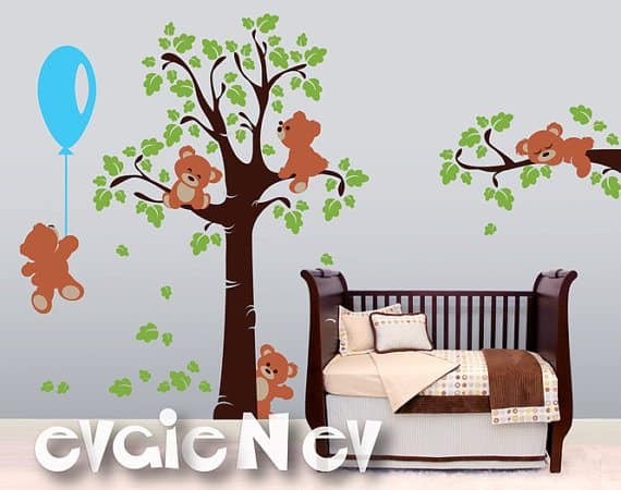 Nice Teddy Bears Wall Decals u Nursery Wall Decals and Baby Nursery Wall Sticker u Teddy Bears wall decals became a huge hit right from the start