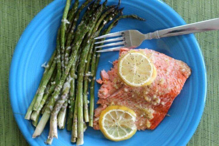 Baked Salmon Lemon Garlic Recipe