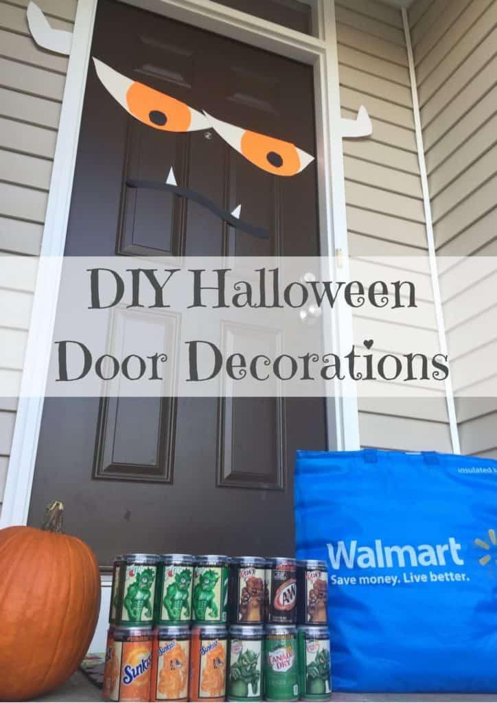 diy halloween door decorations unleash the minimonsters