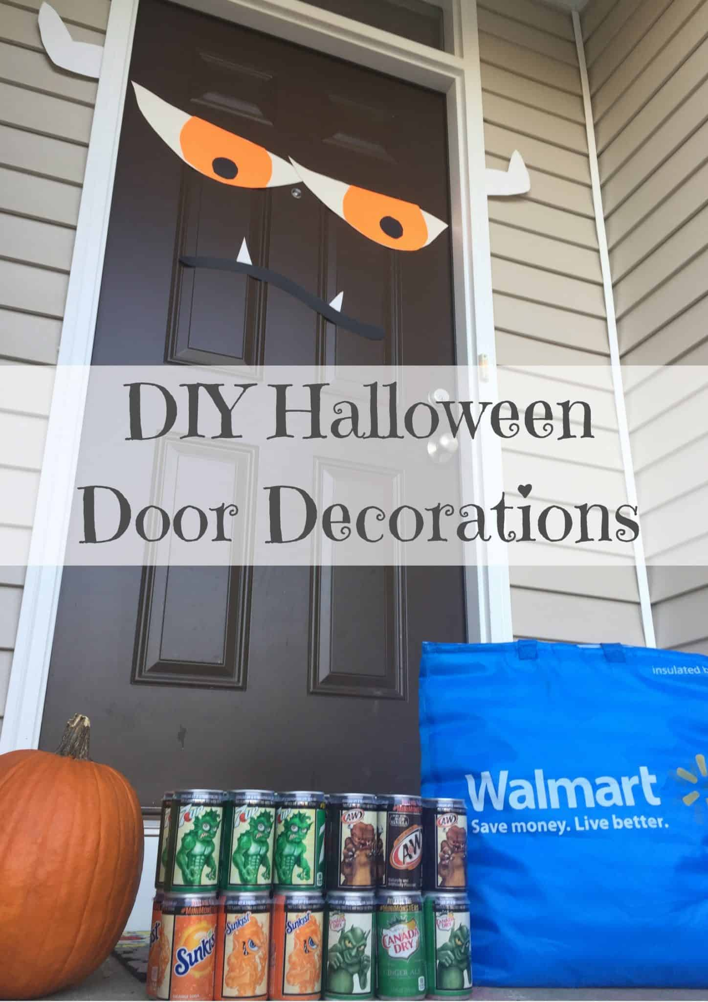 Diy Halloween Door Decorations 1 Saving You Dinero