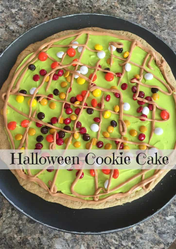 Halloween Cookie Cake - Use Up Your Halloween Candy!