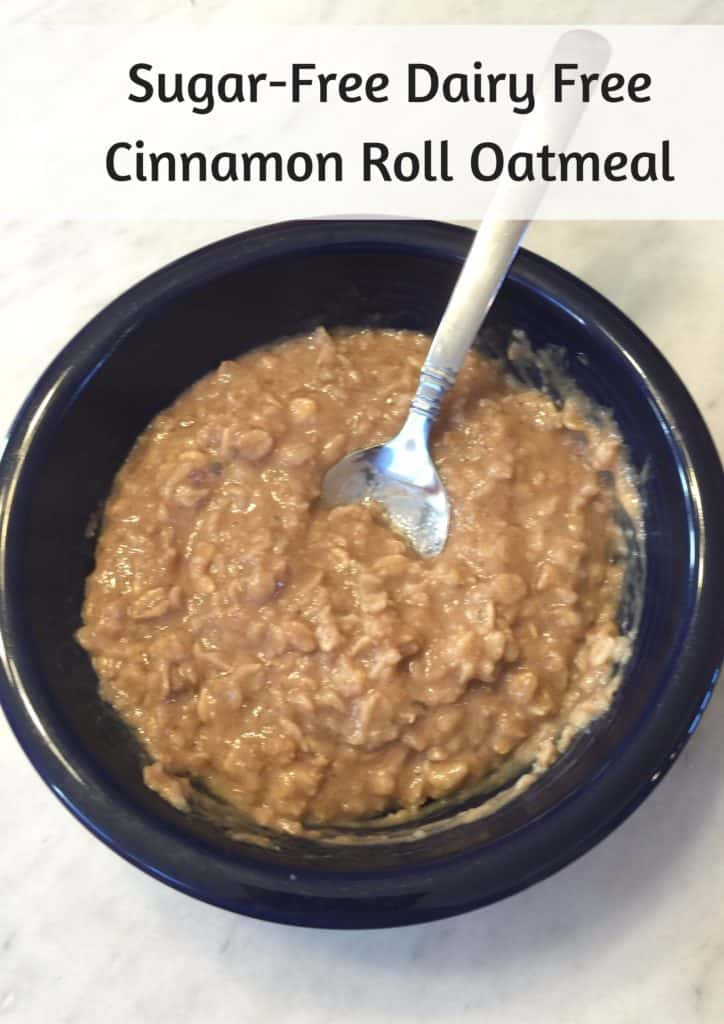 Sugar Free Dairy Free Cinnamon Roll Oatmeal Recipe Trim Healthy Mama THM