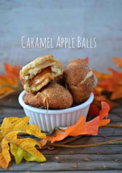 Easy caramel apple balls recipe 12daysof halloween for Caramel apple recipes for halloween