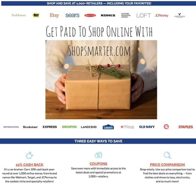 Get 10% Cash Back When You Shop Online With ShopSmarter.com  ShopSmarter review