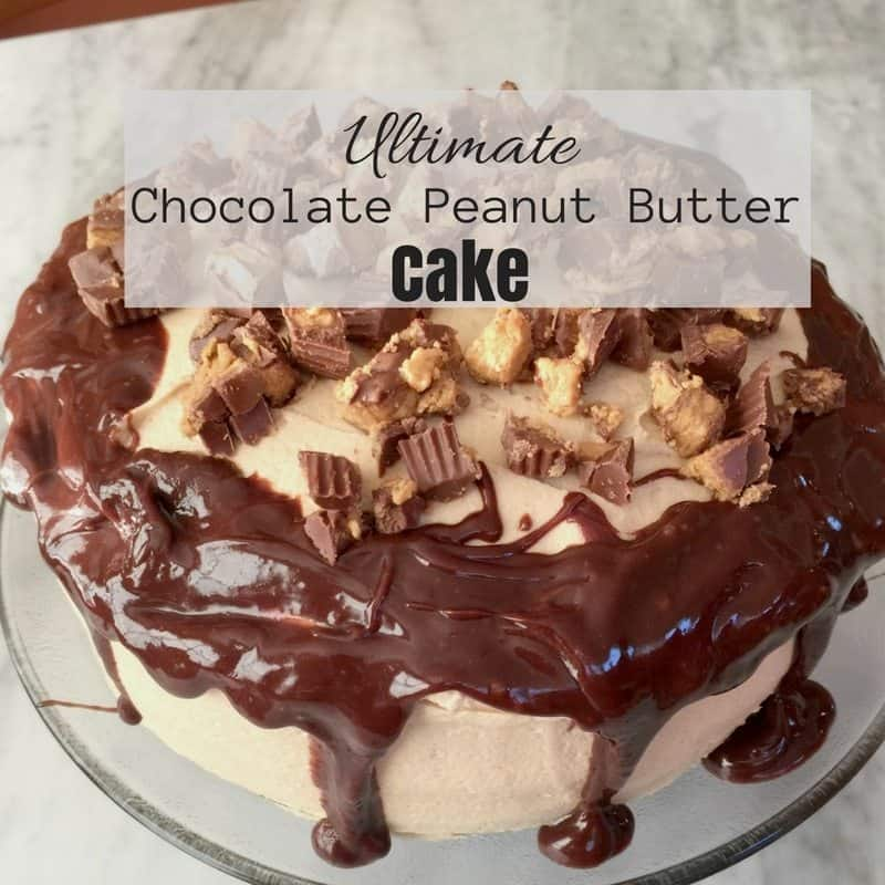 ... chocolate & peanut butter? Make this Chocolate Peanut Butter Cake