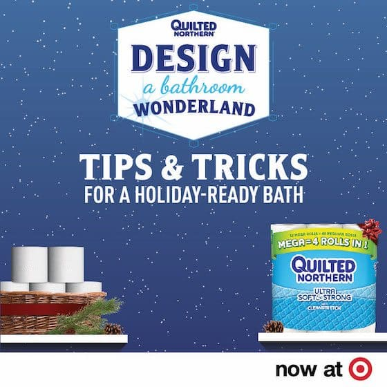 From 12/4-12/31, you can find great Quilted Northern savings with this Target Cartwheel offer! #QuiltedHoliday #ad