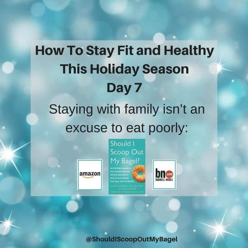 Stay Fit and Healthy This Holiday Season ~ Day 7 (12 Days Of Tips)